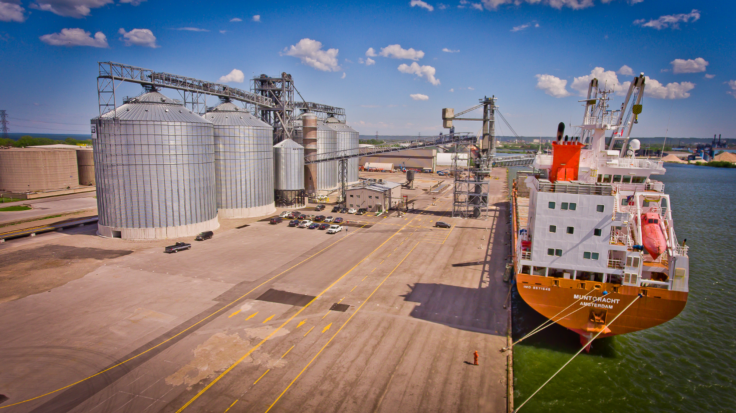 Hamilton ontario grain facility terminal engineering export ship loading