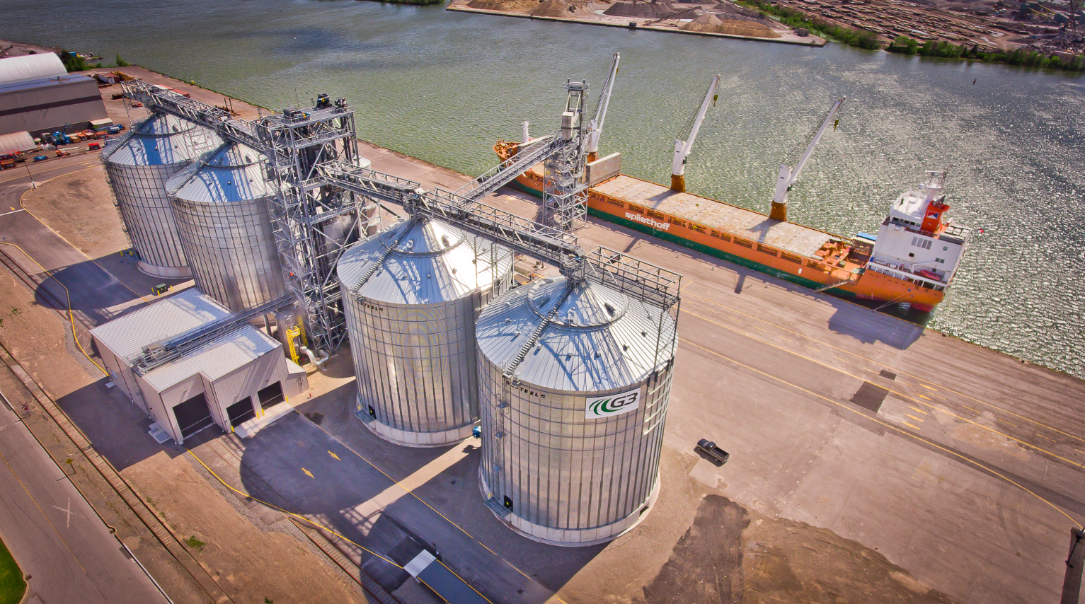 Hamilton port grain facility terminal engineered ship loading design build