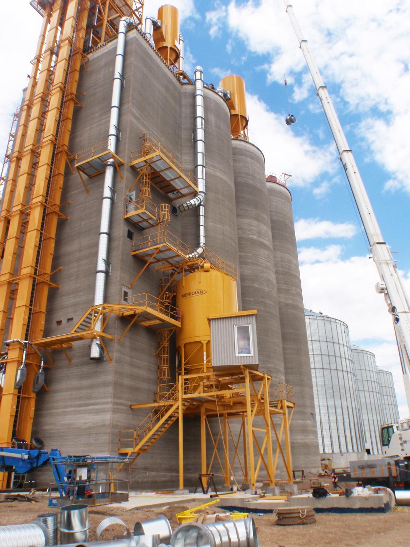 Colonsay inland grain terminal engineering design firm silos grain storage