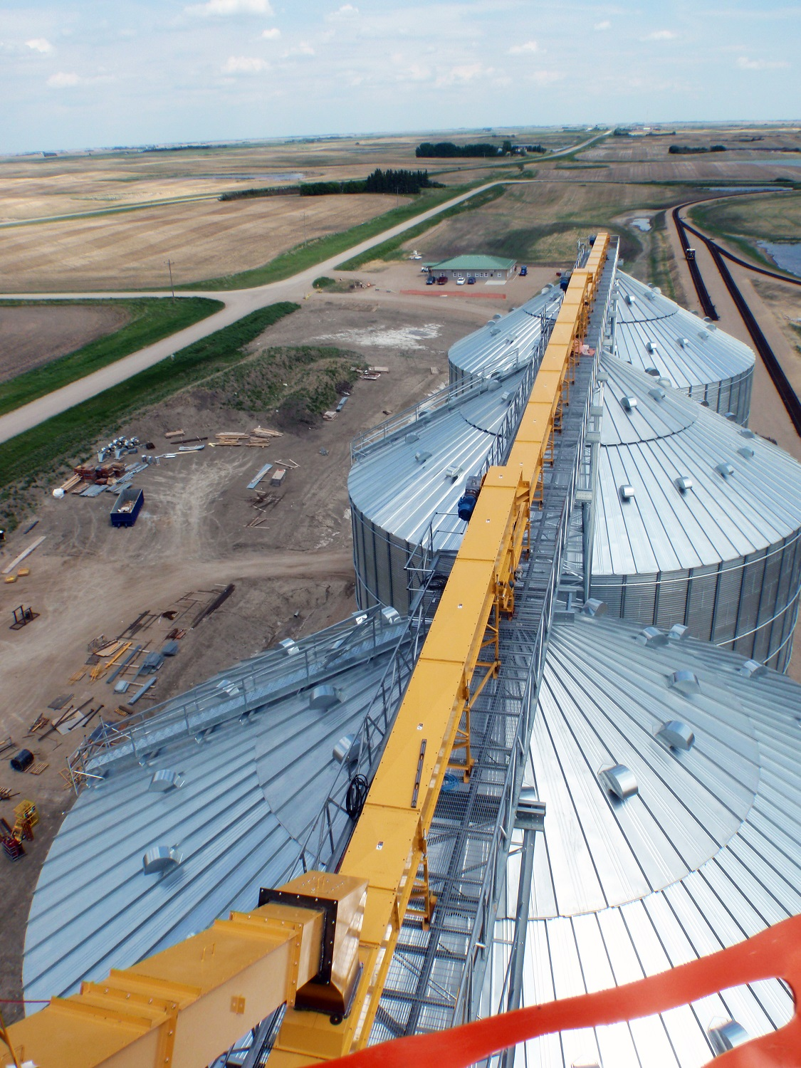 Colonsay inland grain terminal overhead design firm design build