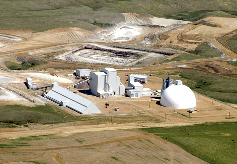 Metakaolin processing facility Design and installation of all foundations, concrete, structural steel and processing buildings whitemud