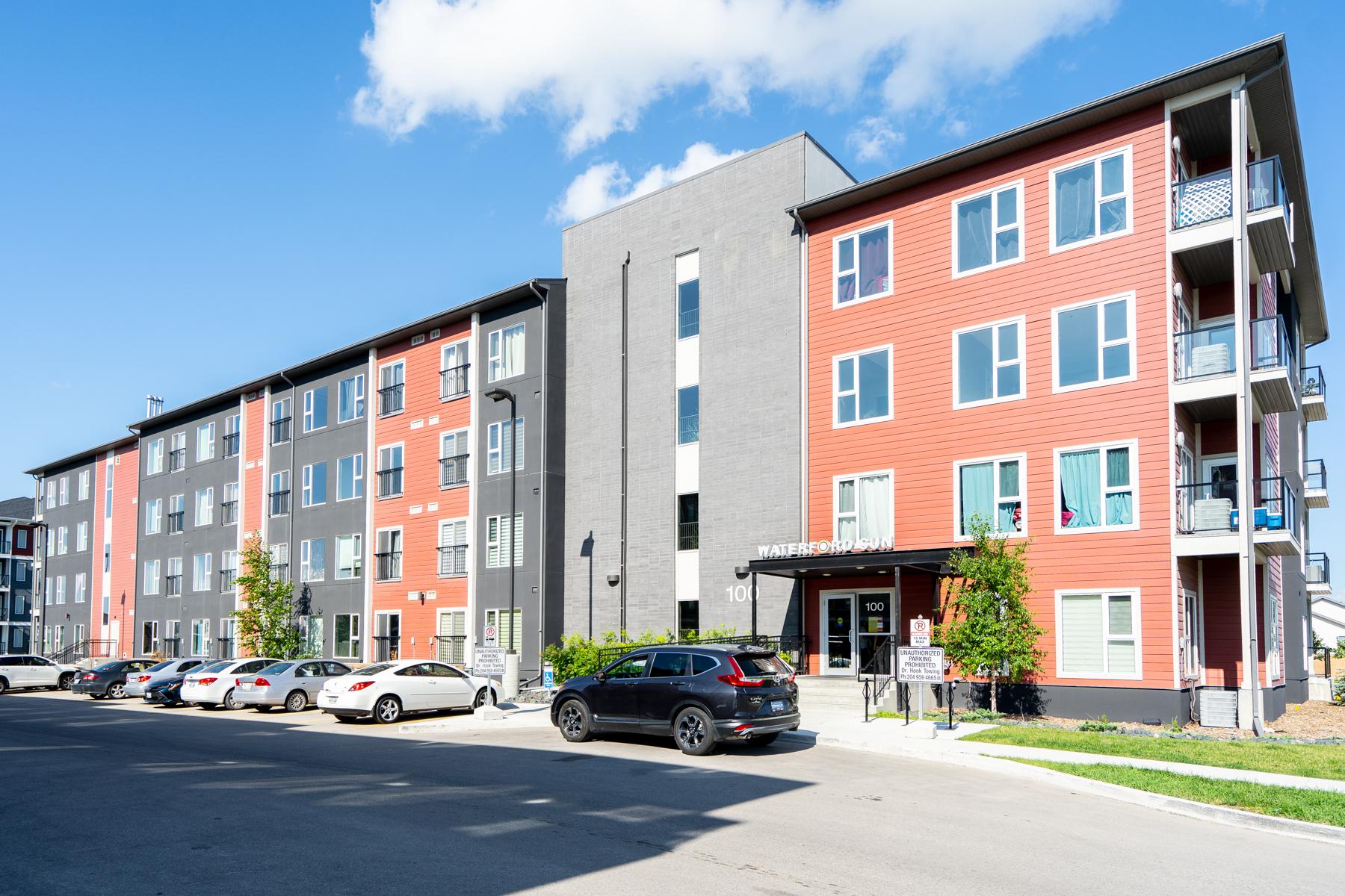 sunstone infrastructure winnipeg condo mid-rise apartment residence exterior facade