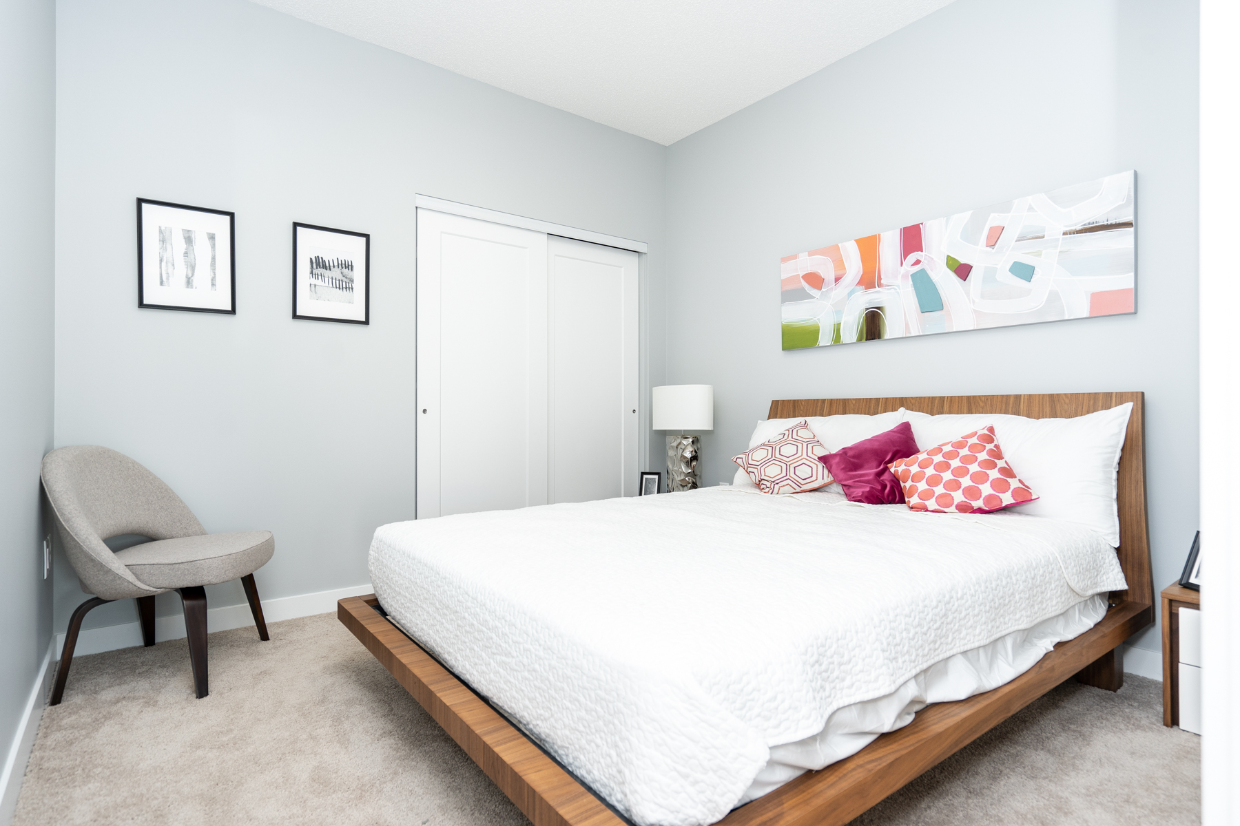 mid-rise apartment residence bed interior