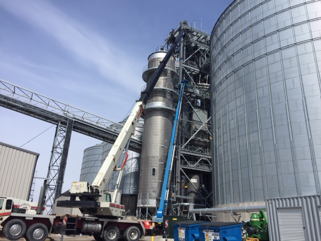 blending hopper bin storage expansion engineering firm agriculture