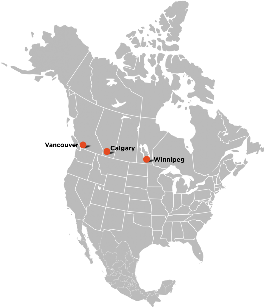 fws office location map north america